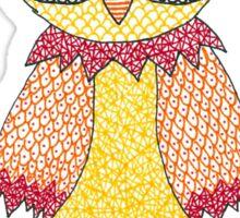 Yellow Owl Sticker