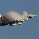 Eurofighter Typhoon creates Moisture Cloud by Shane Ransom