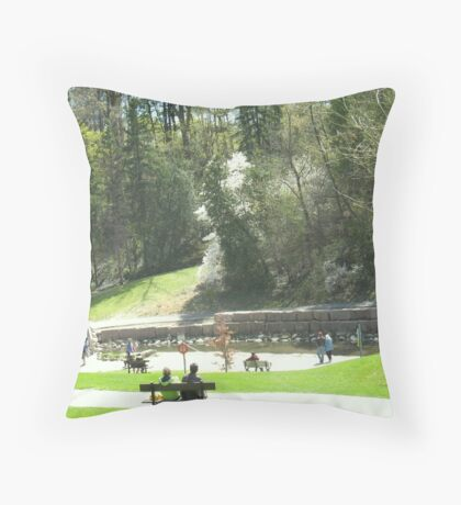 Sunday in the Park with Canon Throw Pillow