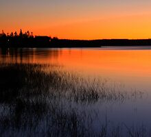 Lake In Golden Hues by Gary Boudreau