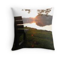 From the Bench Throw Pillow