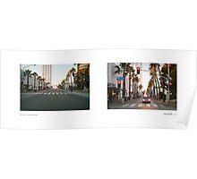 Wilshire Boulevard + 3rd Street Promenade, Santa Monica, Los Angeles, California, USA...narrowed. Poster