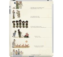 Under the Window Pictures and Rhymes for Children Edmund Evans and Kate Greenaway 1878 0013 Contents iPad Case/Skin