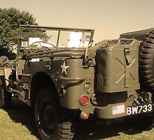 w.w.2 jeep sepia by Cliffyj