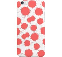 Inky Blots - Tropical Pink on White iPhone Case/Skin