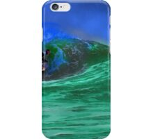 80's Surf Style - Tubed! iPhone Case/Skin