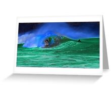 80's Surf Style - Tubed! Greeting Card