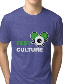 FestCulture Logo Original Green - Dark Tri-blend T-Shirt