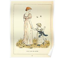 Marigold Garden Pictures and Rhymes Kate Grenaway 1900 0026 Willy and his Sister Poster