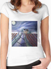 Twilight Furrows on Keld Spring Lane Women's Fitted Scoop T-Shirt