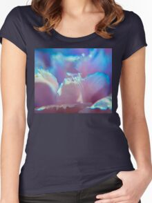 Mauve Petals Women's Fitted Scoop T-Shirt