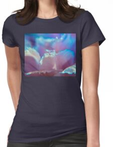Mauve Petals Womens Fitted T-Shirt