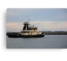 Tug Boat Under Pastel Skies Canvas Print