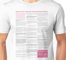 How to act around introverted people - Bright Unisex T-Shirt