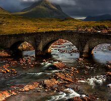 Marsco and the Old Bridge at Sligachan, Isle of Skye. Scotland. by photosecosse /barbara jones
