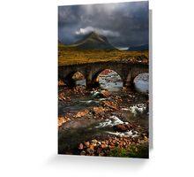 Marsco and the Old Bridge at Sligachan, Isle of Skye. Scotland. Greeting Card