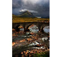 Marsco and the Old Bridge at Sligachan, Isle of Skye. Scotland. Photographic Print