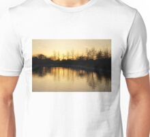 Golden and Peaceful - a Sunset on Lake Ontario in Toronto, Canada Unisex T-Shirt