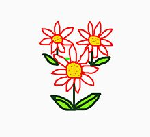 RED DAISIES    T SHIRT Womens Fitted T-Shirt