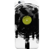 Green Melting Vinyl Records Vintage  iPhone Case/Skin