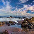 Beach at Cornwall, early evening, amazing sky by Hugster62