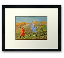 The flight into Egypt Framed Print