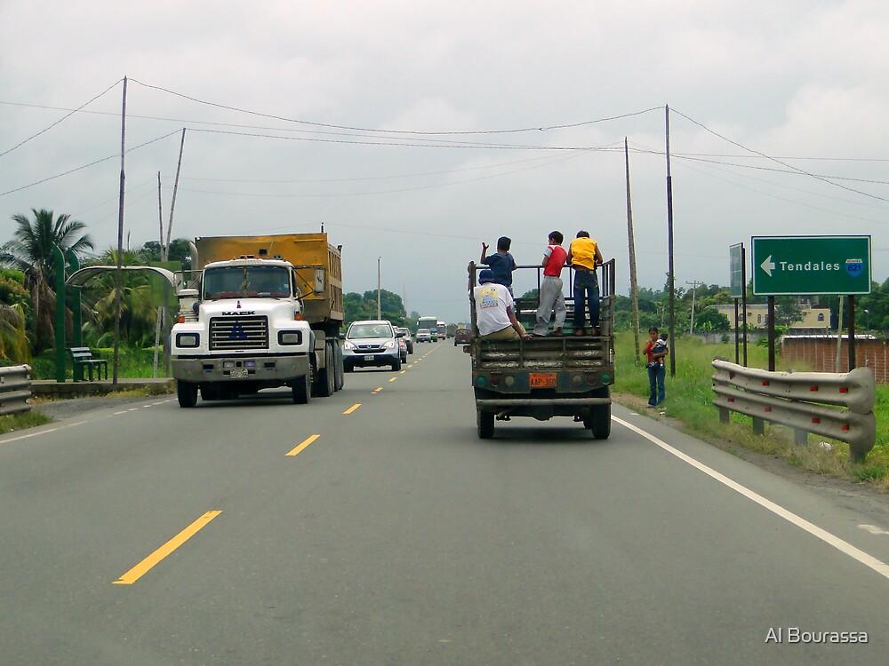 Road to Guayaquil, Ecuador by Al Bourassa
