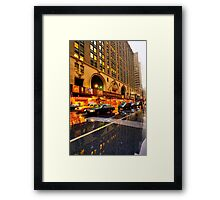 Busy Rainy Day Framed Print