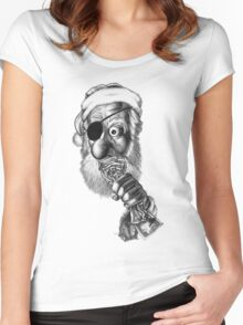 Santa's Big Score Women's Fitted Scoop T-Shirt