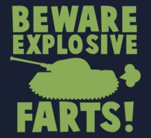 BEWARE Explosive farts light green with military tank by jazzydevil