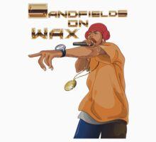 Sandfields on Wax Rapper T-Shirt by jay007