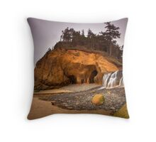 The Dreary Coast Throw Pillow