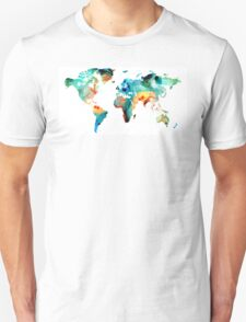 Map of The World 11 -Colorful Abstract Art T-Shirt