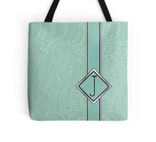 1920s Blue Deco Swing with Monogram letter j Tote Bag