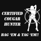 Certified Cougar Hunter (White) by Samuel Pevehouse