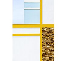 Euclidean in Yellow and Blue Photographic Print