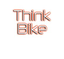BIKE, BICYCLE, CYCLING, CYCLE, MOTORBIKE, Think Bike!, red Photographic Print