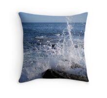 Waves Crashing on the Shoreline Throw Pillow