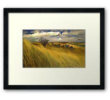 Iowa Prairie Grasses Framed Print