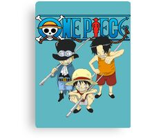 Sabo, Luffy, and Ace Canvas Print