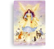 The Guardian Angel of Cats Canvas Print