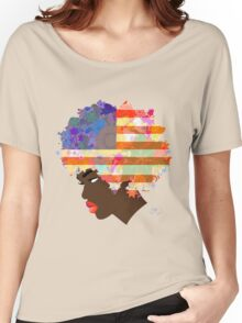 American Flower 'Fro  Women's Relaxed Fit T-Shirt