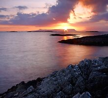Last Light Over Eigg by Chris Miles