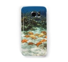 Many starfish underwater in a coral reef Samsung Galaxy Case/Skin