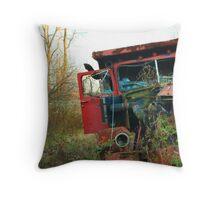 Old Broken Down Truck Throw Pillow