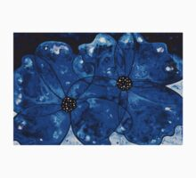 Evening Bloom Blue Flowers by Sharon Cummings Kids Clothes