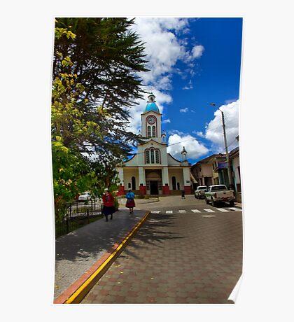 Central San Fernando - Ecuador - Painting Poster