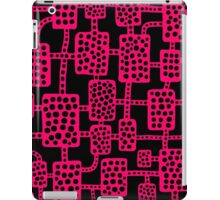 Abstract pattern 041113 - Neon Red on Black iPad Case/Skin