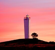 Painter's Paradise - Lighthouse at Jervis Bay, South Australia by Faith Inman
