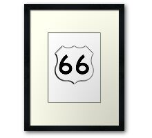 America's, ROUTE 66, Get your Kicks on Route 66, US 66, USA, America, Will Rogers Memorial Highway Framed Print